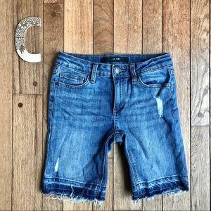 Joes Jeans Girls Raw Hem Denim Jean Shorts